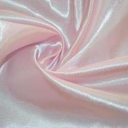 Атлас розово молочный ш.150