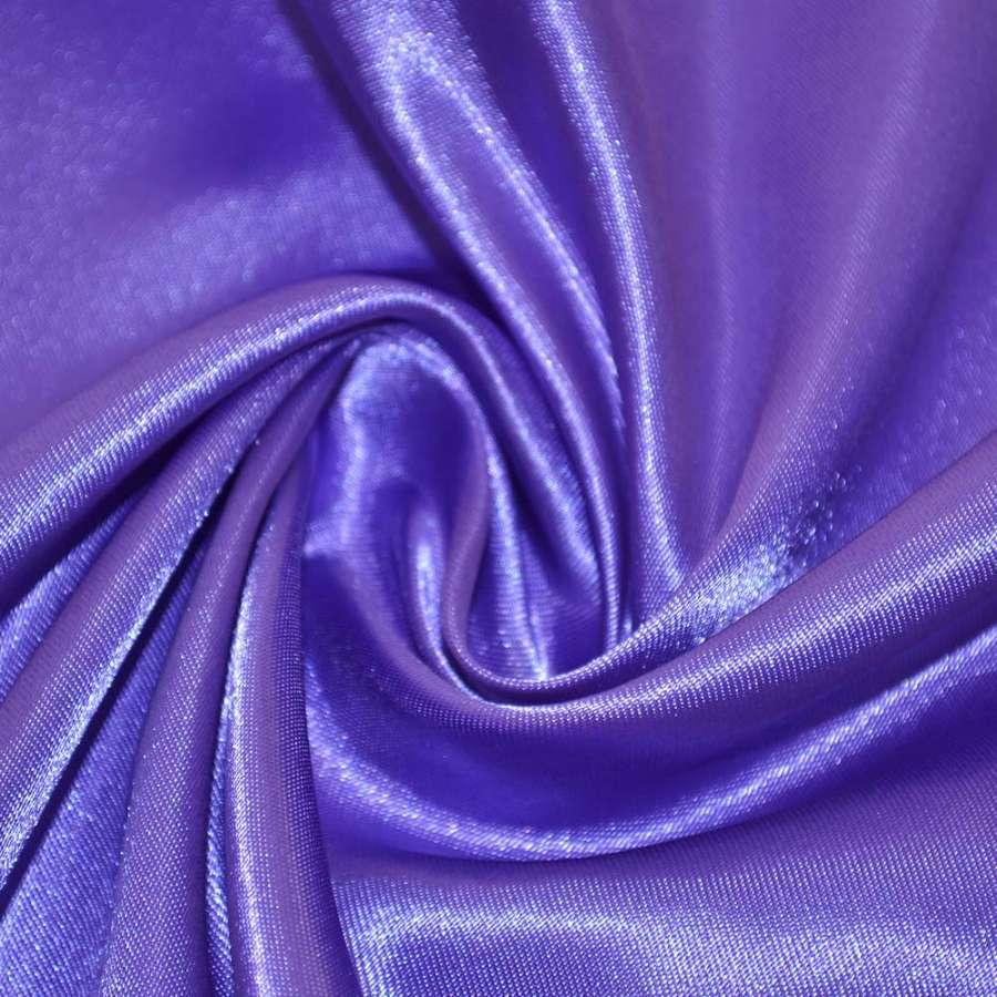 Атлас фиолетово молочный ш.150