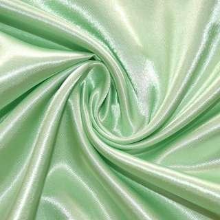 Атлас бледно салатовый ш.150