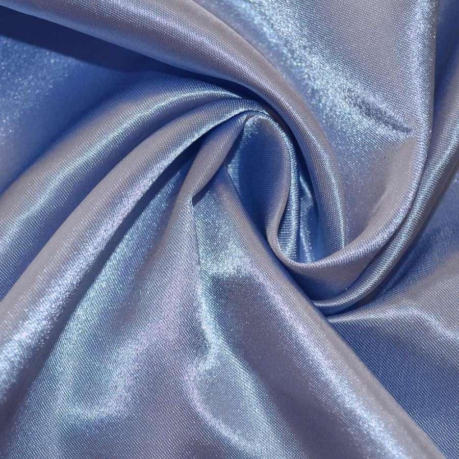 Атлас фиолетово голубой ш.150