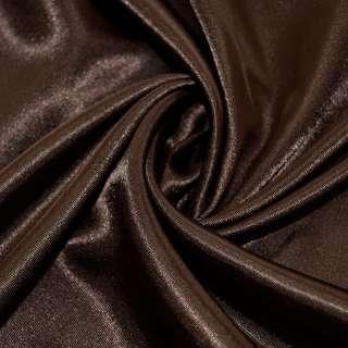 Атлас темно коричневий ш.150