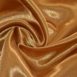 Атлас светло коричневый с золотым отливом ш.150