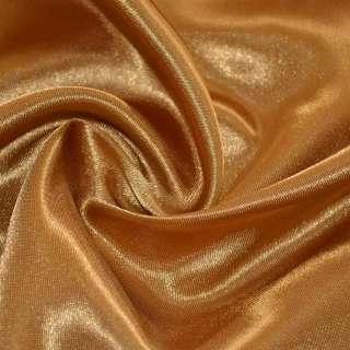 Атлас коричневый светлый с золотым отливом ш.150