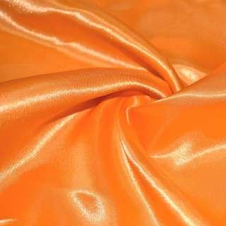Атлас оранжевый яркий ш.150