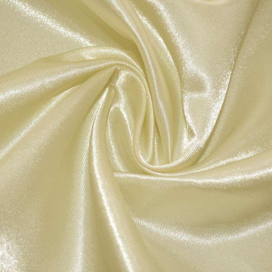 Атлас молочно желтый ш.150