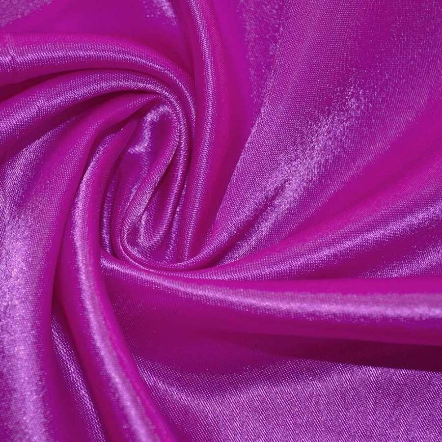 Атлас ярко розовый с белым ш.150