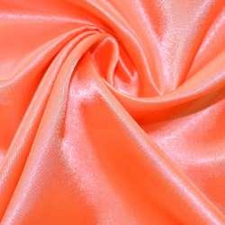 Атлас розово оранжевый ш.150