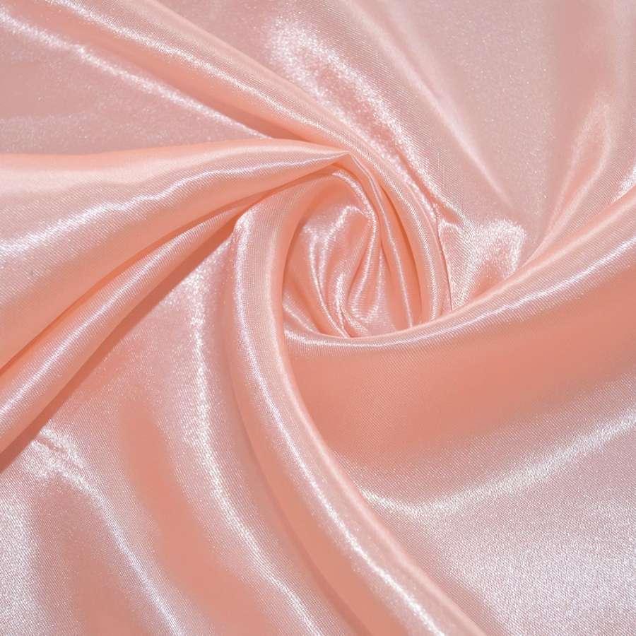 атлас бледно розовый ш.150