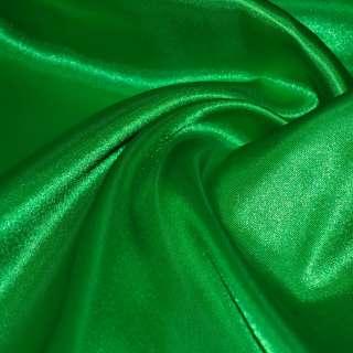 Атлас зеленый яркий ш.150