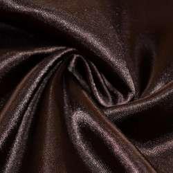 Атлас темно коричневый ш.150