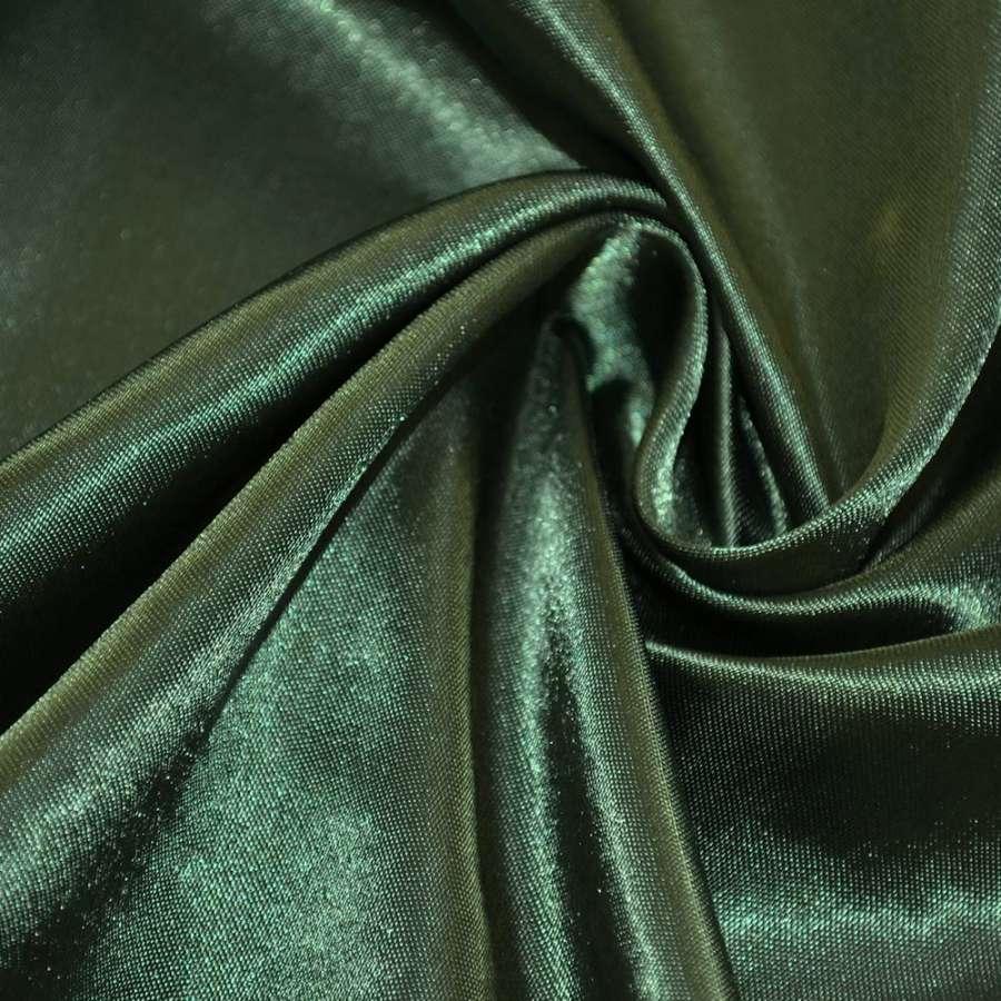 Атлас зеленый темный ш.150