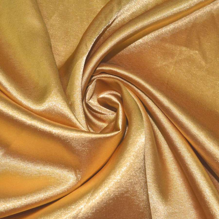 Стрейч атлас золотистый ш.150
