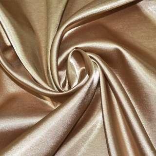 Стрейч атлас бежево коричневый ш.150