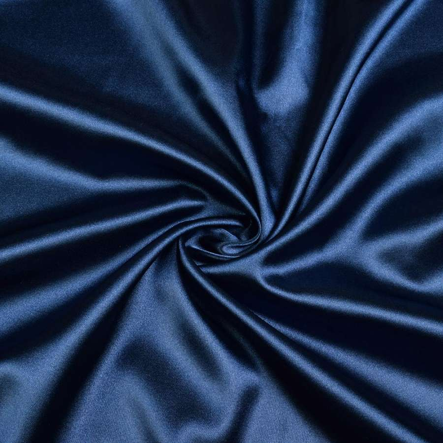 Стрейч атлас синий темный ш.150