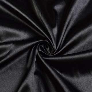 Стрейч атлас черный ш.150