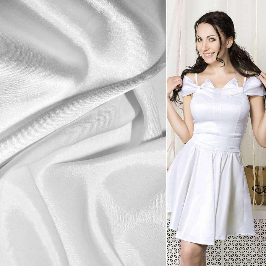 Стрейч атлас хамелеон белый ш.150