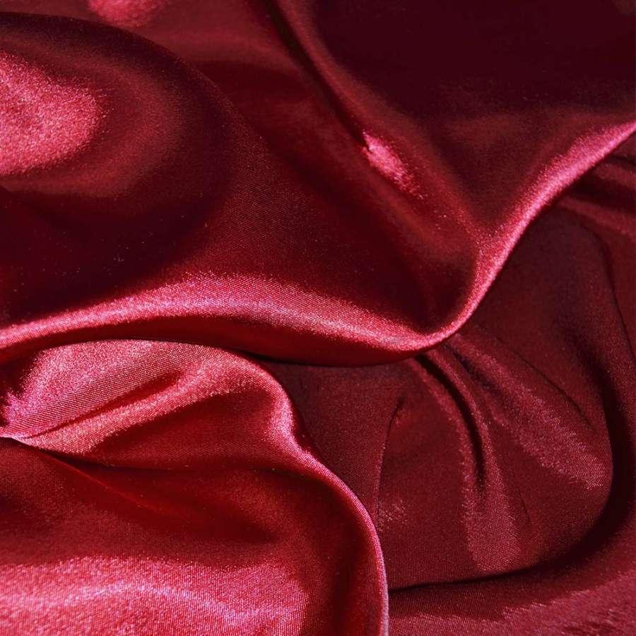 Стрейч атлас хамелеон красный ш.150