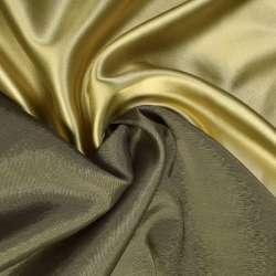Атлас стрейч хамелеон золотисто-болотный ш.150