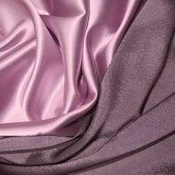 Атлас стрейч хамелеон розово-серый ш.150