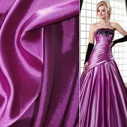 Атлас стрейч хамелеон розово-лиловый ш.150