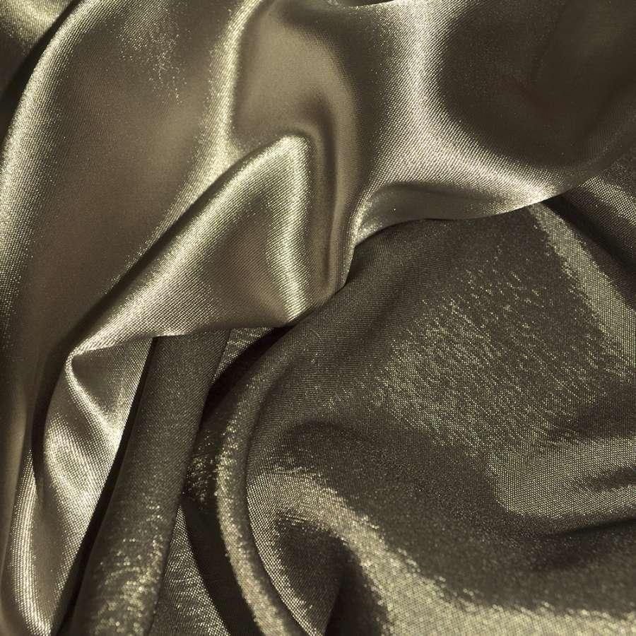 Атлас стрейч хамелеон шоколадный ш.150