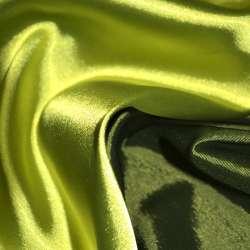 Атлас стрейч хамелеон салатово-зеленый ш.150