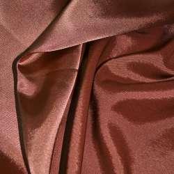 Атлас стрейч хамелеон терракотово-розовый ш.150