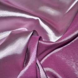 Атлас стрейч хамелеон рожево-бузковий ш.150