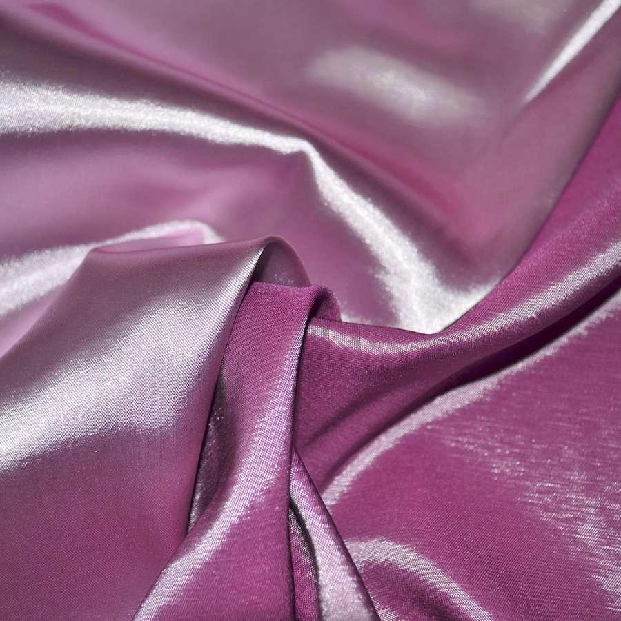 Стрейч атлас хамелеон розово сиреневый ш.150