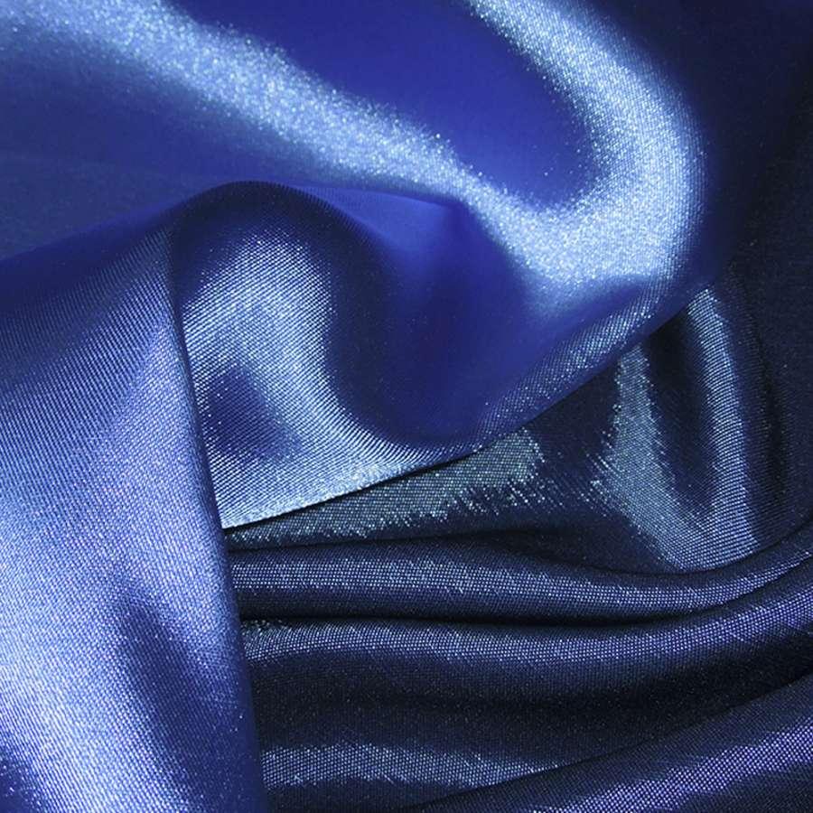Стрейч атлас хамелеон сине голубой ш.150