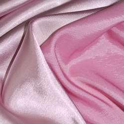 Атлас стрейч хамелеон розово-молочный ш.150