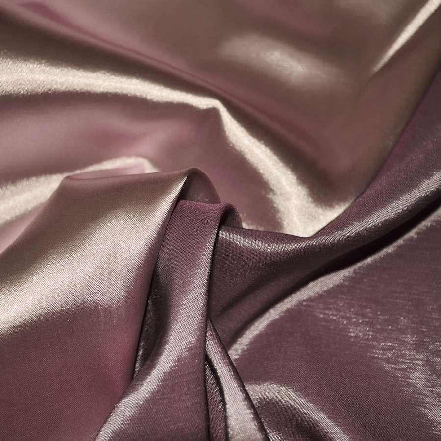 Атлас стрейч хамелеон пепельно-розовый ш.150