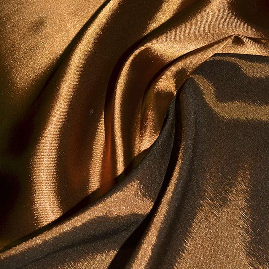 Атлас стрейч хамелеон темно-рыжий ш.150