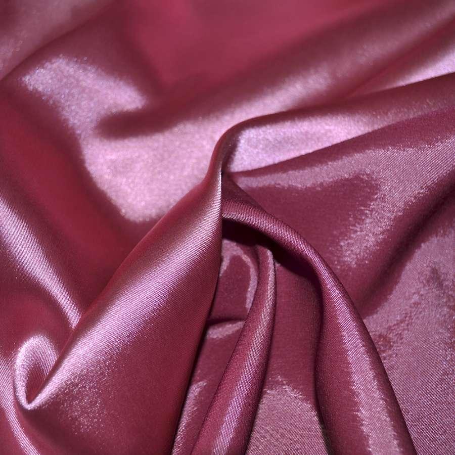 Стрейч атлас хамелеон розово бордовый ш.150