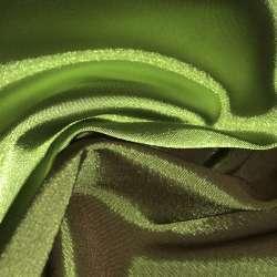 Атлас стрейч хамелеон зелено-бордовый ш.150