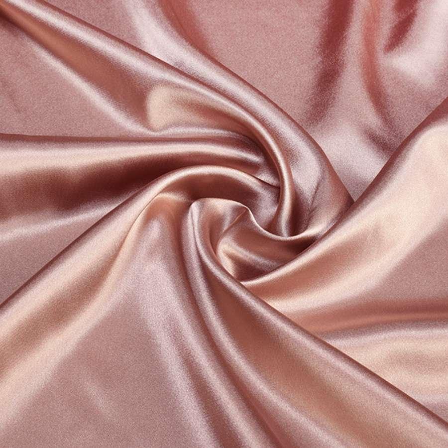 Атлас стрейч шамус розово-серый ш.150