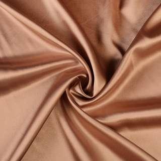 Стрейч атлас шамус коричнево розовый перламутр ш.150