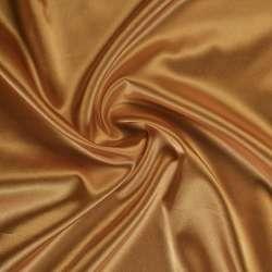 Атлас стрейч шамус коричнево-золотистый ш.150