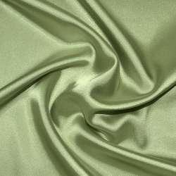Атлас стрейч шамус оливково-серый ш.150