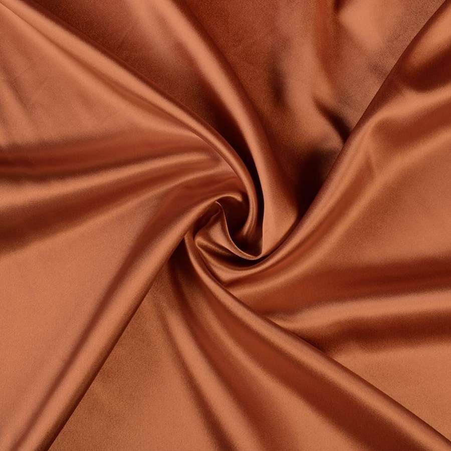 Стрейч атлас шамус коричнево рыжий ш.150