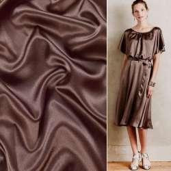Атлас стрейч шамус шоколадный ш.150