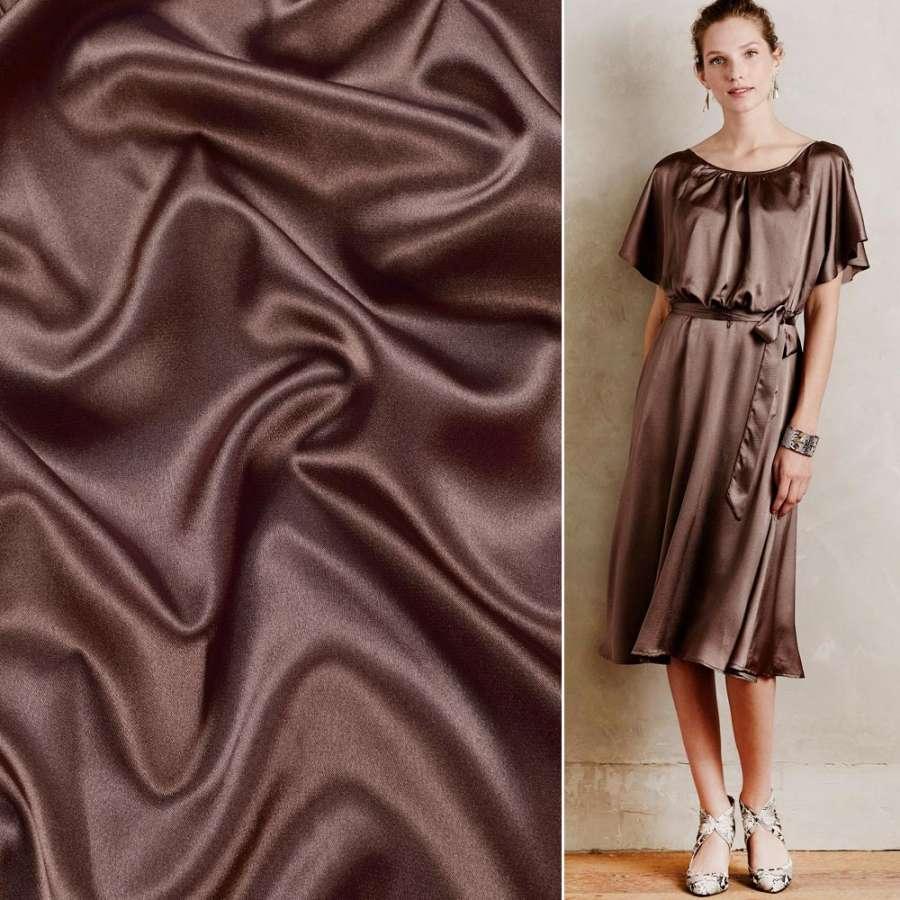 Стрейч атлас шамус шоколадный ш.150