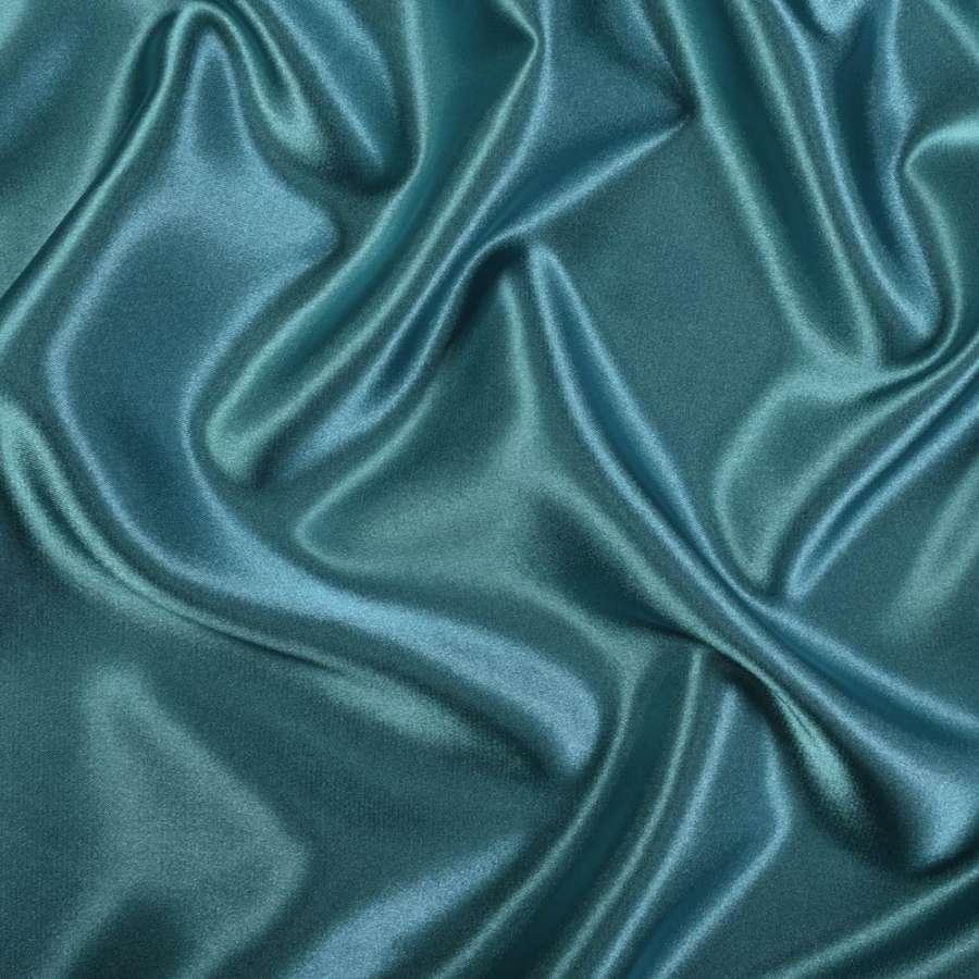 Стрейч атлас шамус зелено синий ш.150