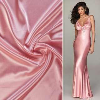 Атлас стрейч шамус розовый светлый ш.150