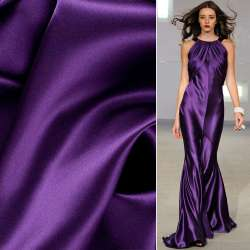 Атлас стрейч шамус темно-фиолетовый ш.150