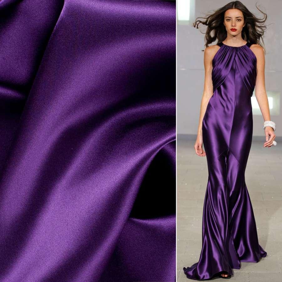 Стрейч атлас шамус темно фиолетовый ш.150