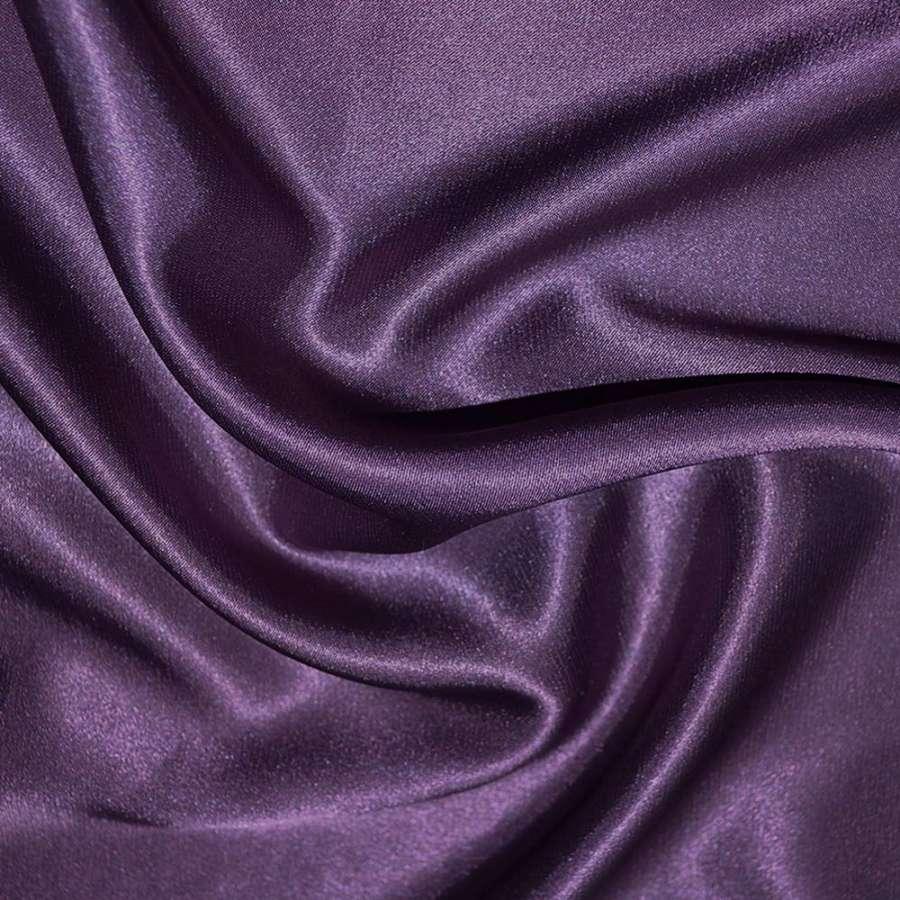 Стрейч атлас шамус фиолетово перламутровый ш.150