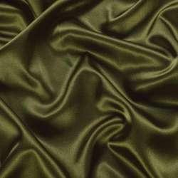 Атлас стрейч шамус оливковый темный ш.150