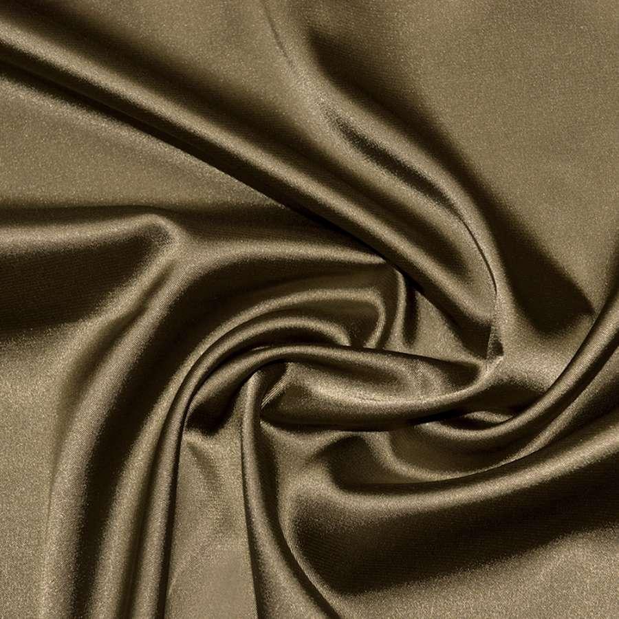 Стрейч атлас шамус коричневый с белым отливом ш.150
