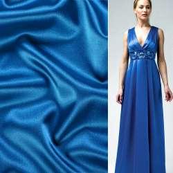 Атлас стрейч шамус синий светлый ш.150